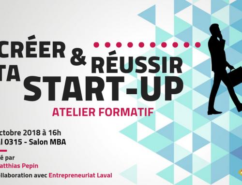 Créer et réussir sa start-up : Atelier Formatif
