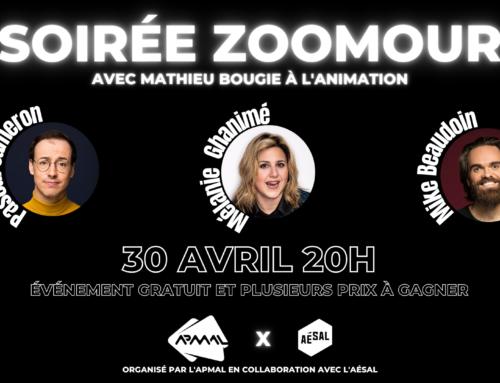 Soirée ZOOMour // APMAL x AÉSAL